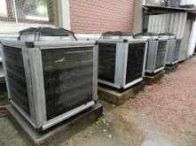 Bombas de calor que aquecem a água do Complexo Térmico