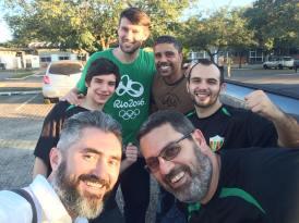 Cid, Sidney, Thiago, Lourenço, Lucas e Gilbert