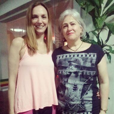 A associada Clarice Marchesan e sua amiga Rosane Mendonça experimentaram novamente a aula